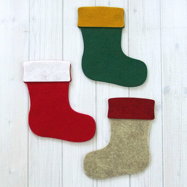 Felt Stocking - Felt Die Cuts, 12 pieces