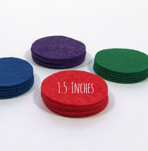 Felt Die Cuts, Circles, 1.5 inches, 20 pieces - Busy Little Bird