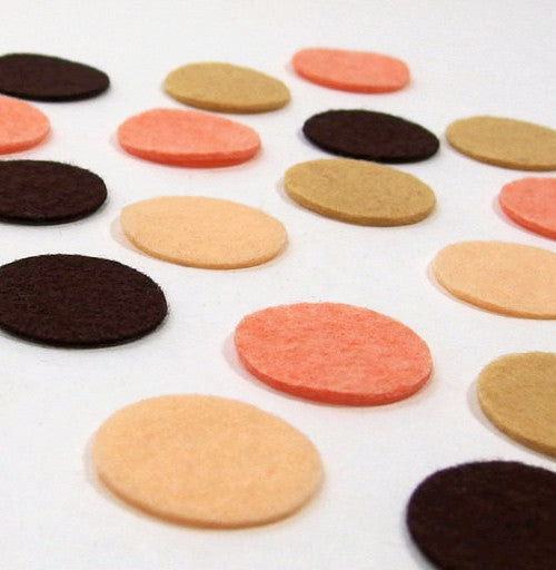 Felt Die Cuts, Circles, 20 pieces, 1-inch - Busy Little Bird