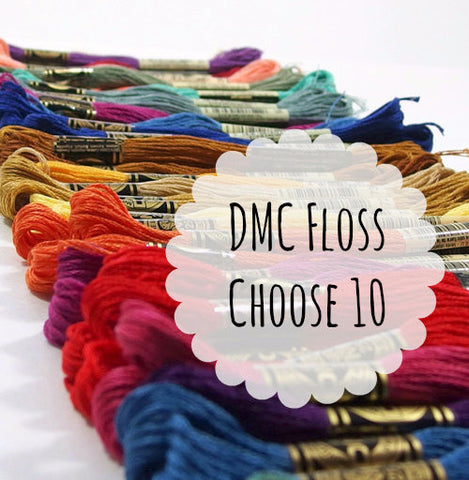 DMC Embroidery Floss, Choose 10 - Busy Little Bird