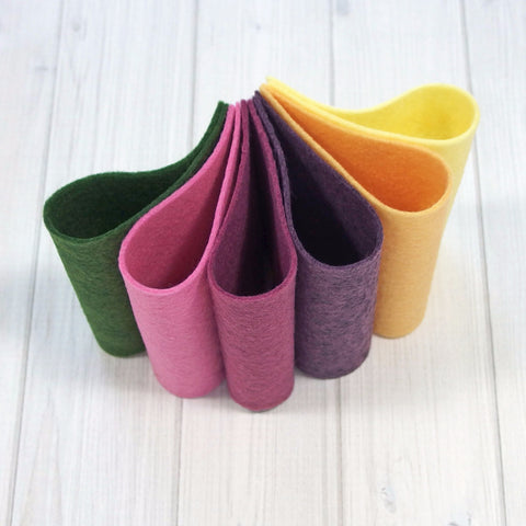 Felt Color Set, Garden Bouquet, 9 x 12 inches - Busy Little Bird