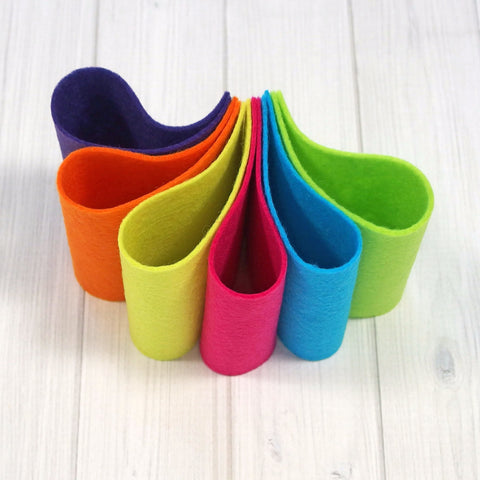 Felt Color Set, Summer Brights, 9 x 12 inches - Busy Little Bird