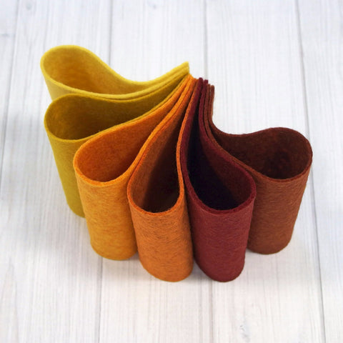 Felt Color Set, Autumn Harvest, 9 x 12 inches - Busy Little Bird - 1