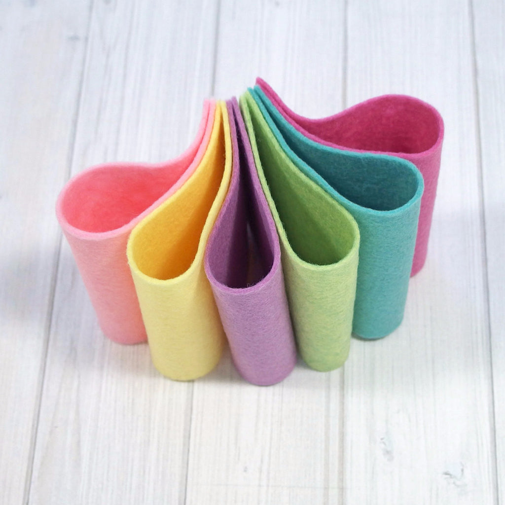 Felt Color Set, Sherbet, 9 x 12 inches - Busy Little Bird
