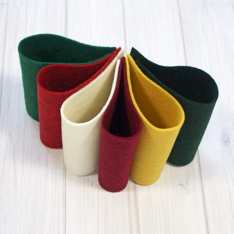 Felt Color Set, Christmas Holidays, 9 x 12 inches - Busy Little Bird - 1