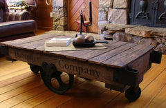 Upcycled Furniture Ideas / Factory Cart Table
