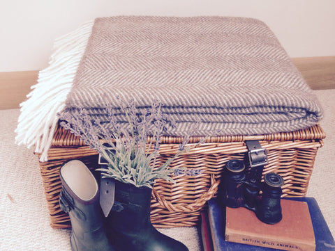 Luxury Brown Alpaca Herringbone Throw - Country Living Home Accessories,  Throws - Home Accessories, Field & Pheasant  Field & Pheasant