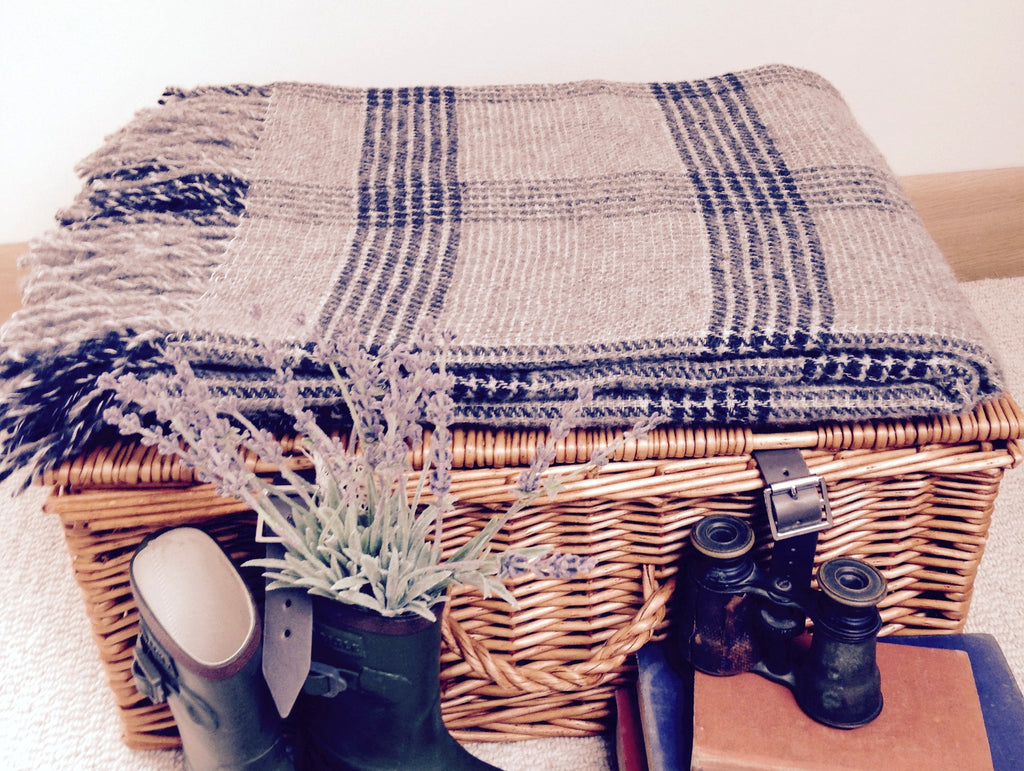 Luxury Grey Linen Blend Throw - Country Living Home Accessories,  Throws - Home Accessories, Field & Pheasant  Field & Pheasant