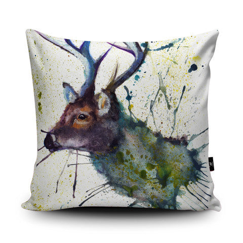 Country Home Splatter Art Stag Head Cushion…Handmade - Country Living Home Accessories,  Cushions - Home Accessories, Field & Pheasant  Field & Pheasant