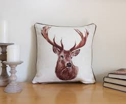Luxury Country Stag Head Cushion...Limited Edition - Country Living Home Accessories,  Cushions - Home Accessories, Field & Pheasant  Field & Pheasant