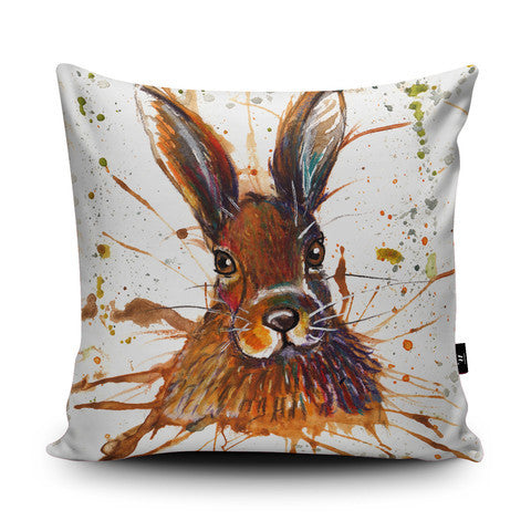 Country Home Splatter Art Hare Cushion...Handmade - Country Living Home Accessories,  Cushions - Home Accessories, Field & Pheasant  Field & Pheasant