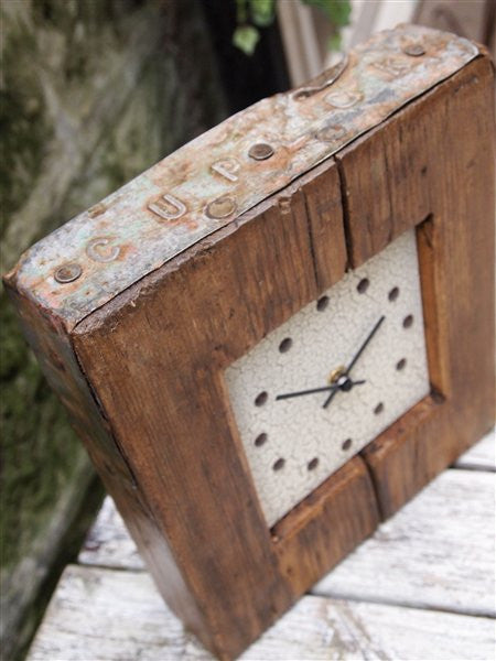 Country Home Small Rustic Clock - Country Living Home Accessories,  Clocks - Home Accessories, Field & Pheasant  Field & Pheasant