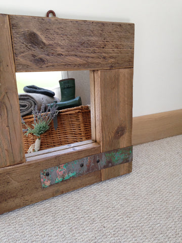 Country Home Small Rustic Mirror - Country Living Home Accessories,  Mirrors - Home Accessories, Field & Pheasant  Field & Pheasant