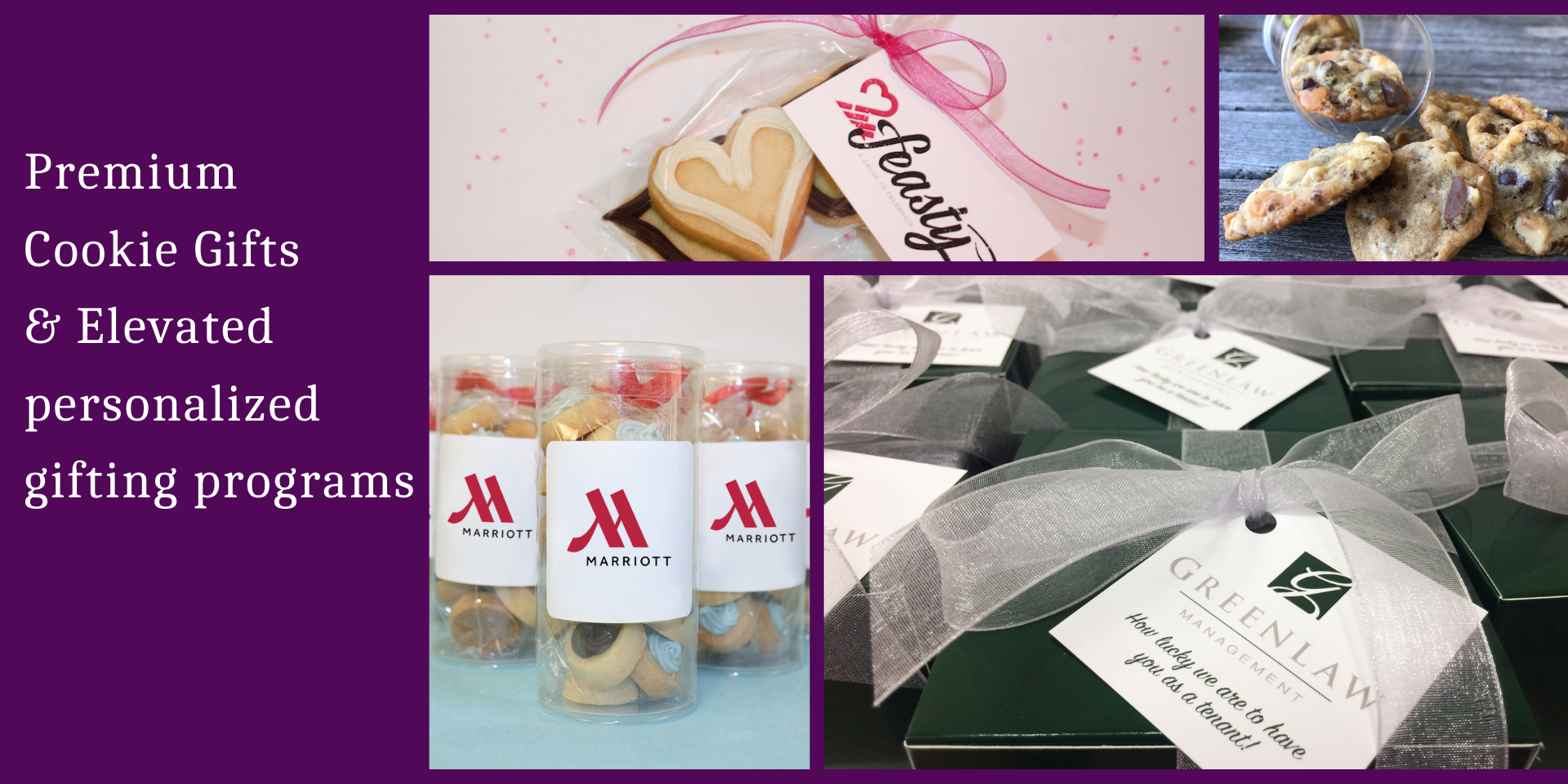 Super Love Cookies personalizes heart shaped cookie gifts and traditional cookie favors for business, special events, and client retention programs and more.