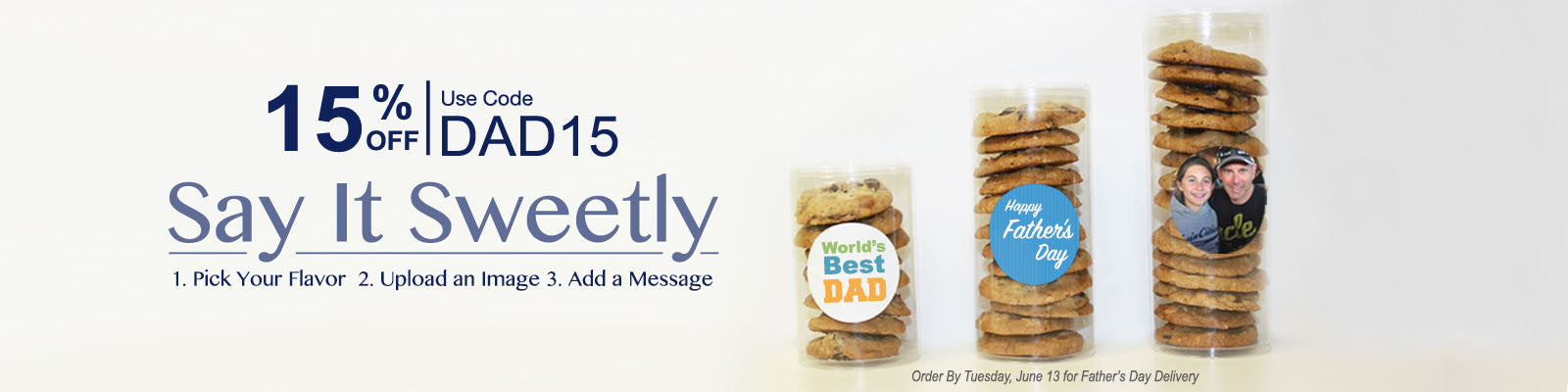 Personalized Father's Day cookie gifts