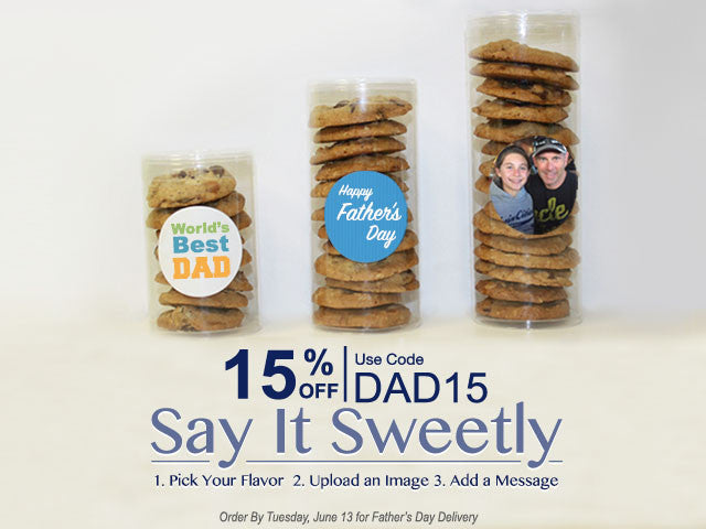 Personalized Father's Day cookie gifts Upload image and message for free