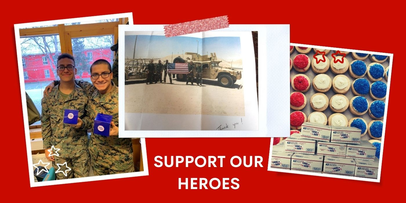 send a military care packages to support our troops serving overseas through super love cookies