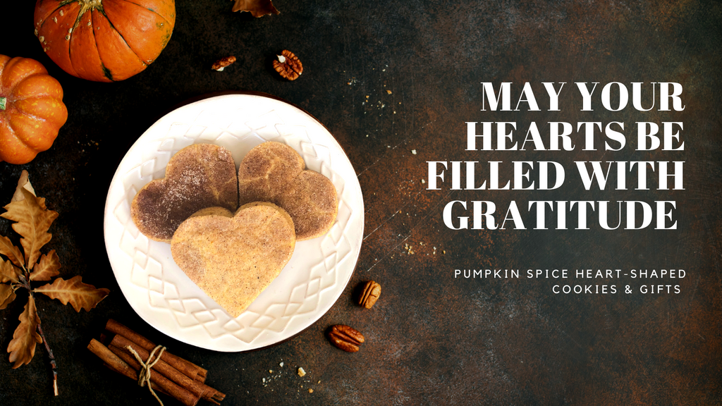 SuperLove blog celebrating fall, Halloween, and Pumpkin spiced heart shaped cookies