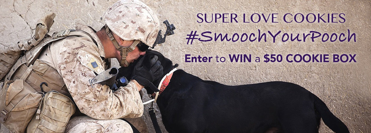 Smooch Your Pooch | Share a photo of your pooch to be entered to WIN a SuperLove Cookies Box!