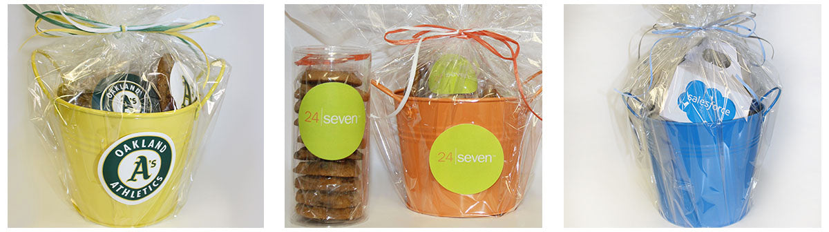 Branded Cookie Gift Baskets for Corporate Gifts and Events