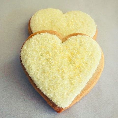 yellow heart shaped cookies for cookie favors, employee gifts, or employee appreciation. Baked fresh. Always gift wrapped