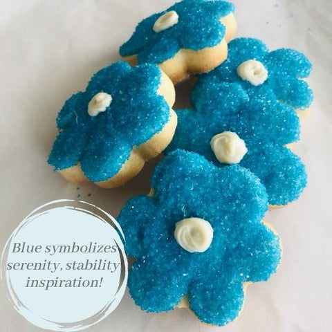 BLUE FLOWER SHAPED SUGAR COOKIES | 16 COOKIES