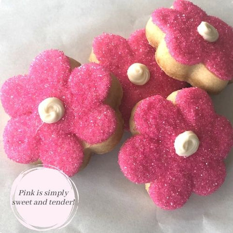 PINK FLOWER SHAPED SUGAR COOKIES