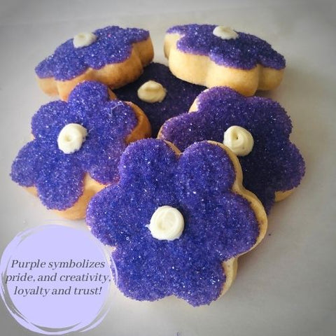 PURPLE FLOWER SHAPED SUGAR COOKIES | 16 COOKIES