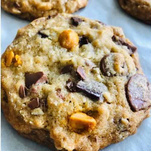 fresh-baked chocolate chip cookies turned up a notch. We add dark, milk, white and butterscotch chips. Order online. Personalized cookie gifts.