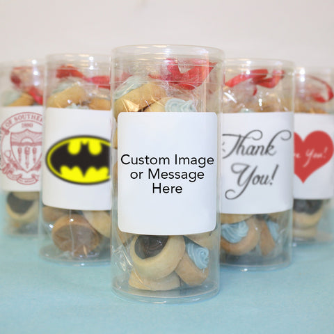 "Custom Little Dot Sugar Cookie Trio – 3 Tubes of 42+ Cookies (1"")"