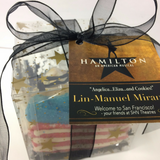 Hamilton cookie gifts for broadway show with Lin Manuel Miranda