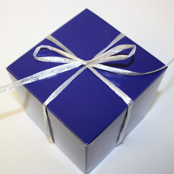 Choose this blue box and pack with cookies. Add personal note or image for Free.