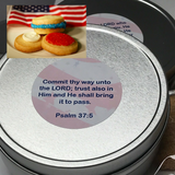 patriotic cookie tins personalized with prayers