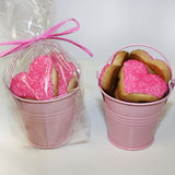 HEART SHAPED SUGAR COOKIE LOVE BUCKET – Pink (Small)
