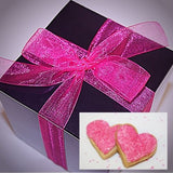 PINK HEART SHAPED COOKIES | GIFT BOX + PERSONALIZED NOTE