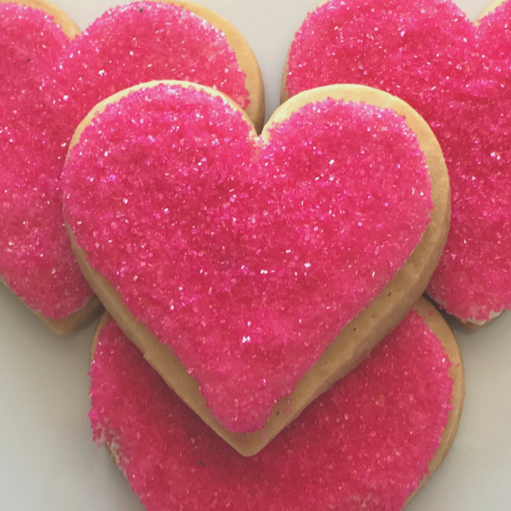 Heart Shaped Sugar Cookies With Icing