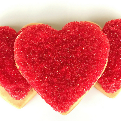 Red heart shaped cookies celebrate valentine's day everyday