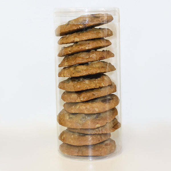 Chocolate Chip Cookie Tube Personalize Free for custom cookie gift