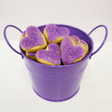 HEART SHAPED SUGAR COOKIE LOVE BUCKET – PURPLE (MEDIUM)