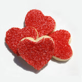 Red Heart-Shaped Sugar Cookies for Valentine's Day
