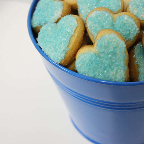 Heart shaped cookie LOVE BUCKET GIFT