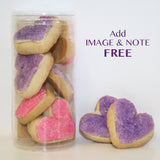 Heart-Shaped Sugar Cookies | Personalized Cookie Gift