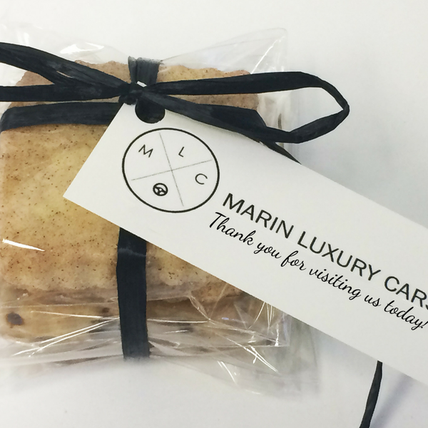 Cookie favors personalized and baked fresh for your special events, corporate meetings, or virtual parties.