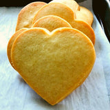 heart shaped sugar cookies with pure vanilla. Personalize for event favors. Super Love Cookies