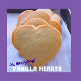 Heart Shaped Sugar Cookie | Vanilla crisp and buttery