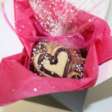 Dark Chocolate Heart Shaped Sugar Cookies | Free Gift wrap