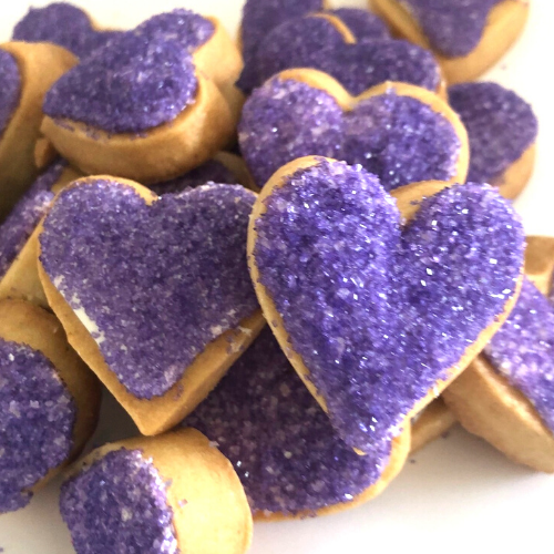 PURPLE HEART SHAPED COOKIES | SUGAR COOKIES
