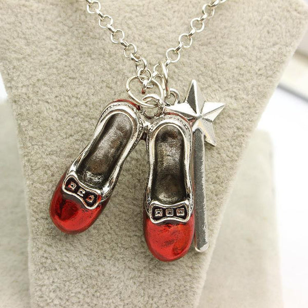 Alice In Wonderland  Shoes Pendant Necklace