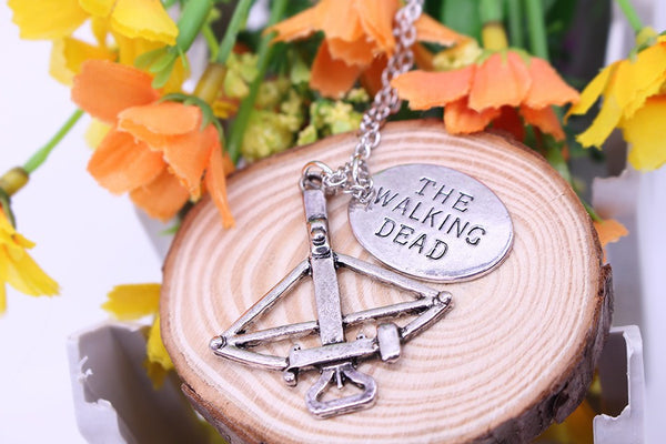The Walking Dead Necklace Crossbow Pendant