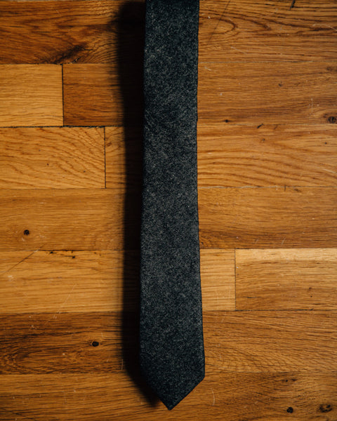 The Petrie Skinny Tie - Charcoal - Shop Stay Classic - 3